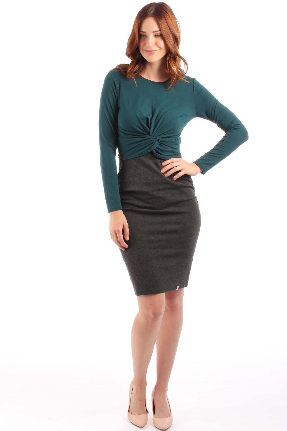 Lait De Poule LDP pencil skirt base dress grey