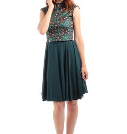 Lait De Poule LDP circle skirt base dress green
