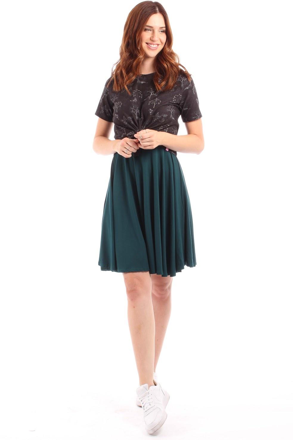 Lait De Poule LDP circle skirt base dress green