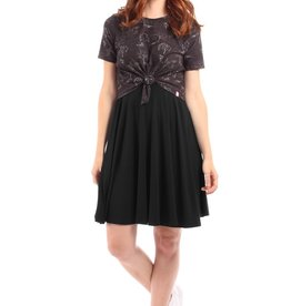 Lait De Poule LDP circle skirt base dress black