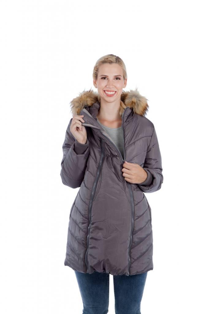 b0525e9fb0808 3 in 1 Maternity & Babywearing Winter Puffer Coat - Evymama Nursing &  Maternity