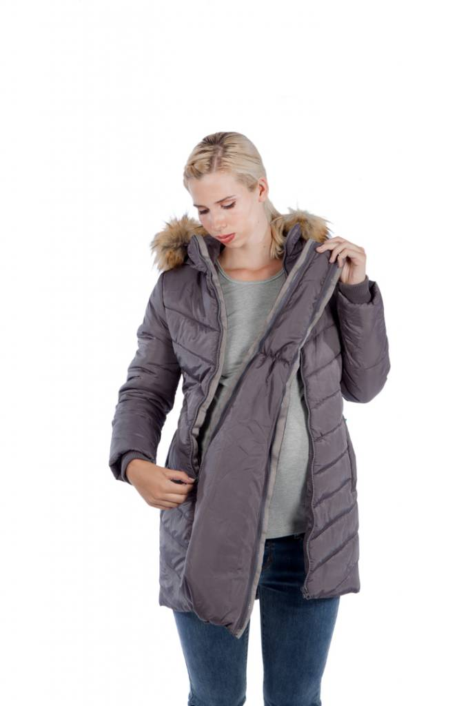 2f65136a2 3 in 1 Maternity   Babywearing Winter Puffer Coat - Evymama Nursing ...