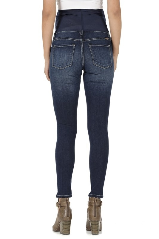 Maternity Jeans dark wash overbelly