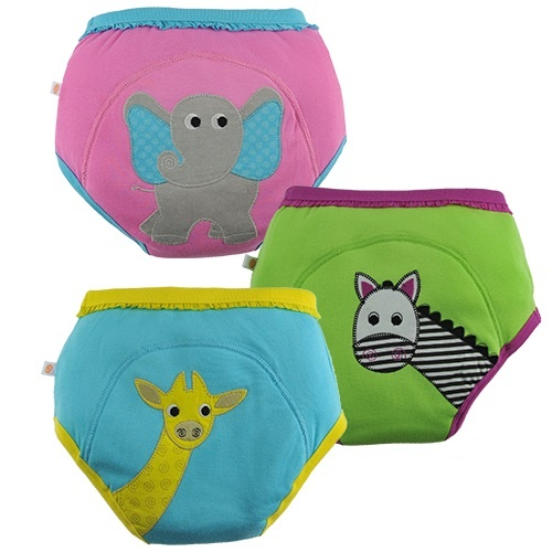 Zoocchini Organic Training pants safari Friends girl