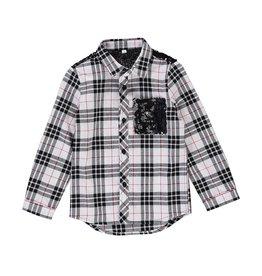 Birdz Birdz plaid sequin flannel holiday shirt