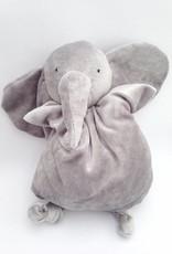 Papoum grey elephant soft toy