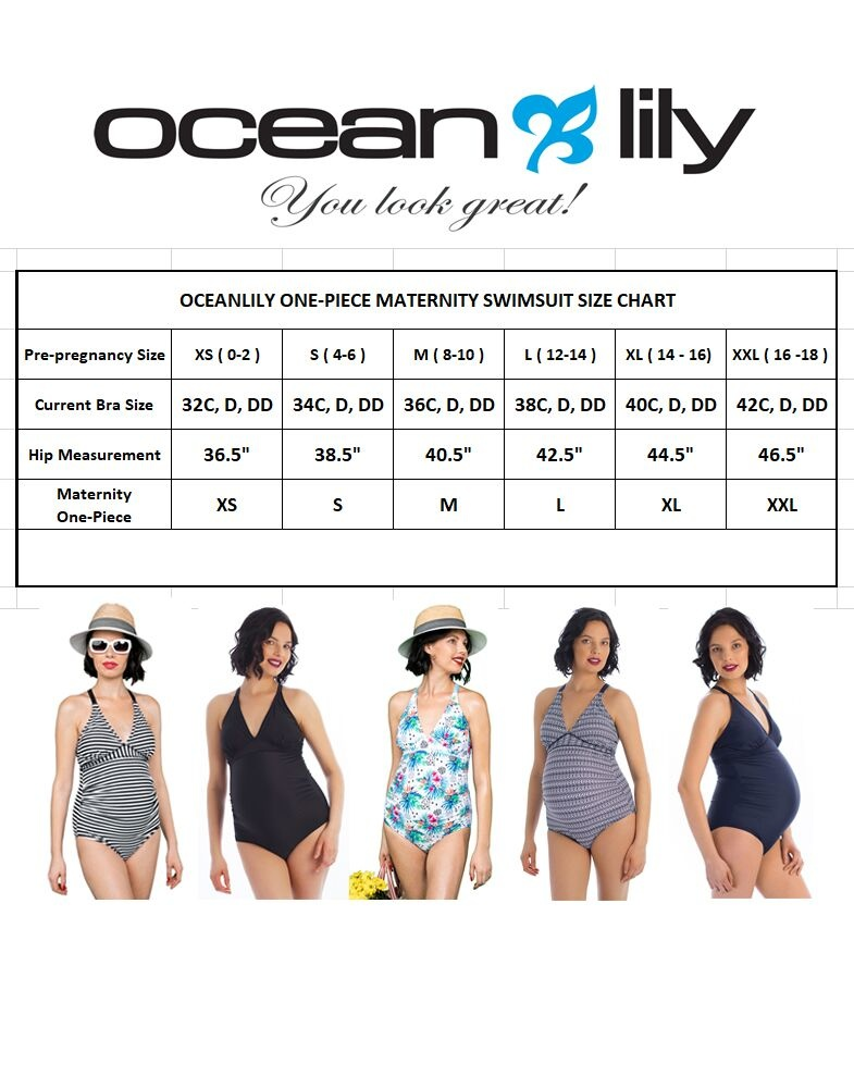 Oceanlily maternity swimsuit navy print