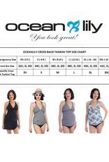 Oceanlily maternity tankini top navy print