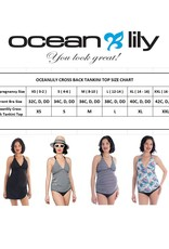 Oceanlily maternity tankini top stripe