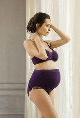 Cache Coeur Serenity lace maternity nursing bralet in Royal Purple