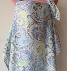 Blue Paisley nursing cover