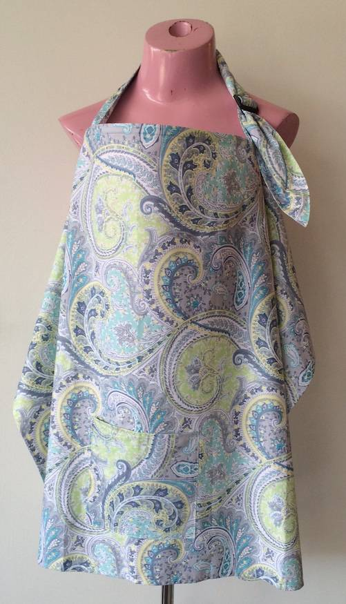 June & Dane nursing cover Blue Paisley