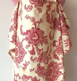 Damask Red nursing cover