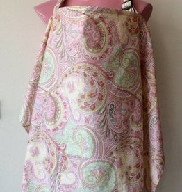 Pink Paisley nursing cover