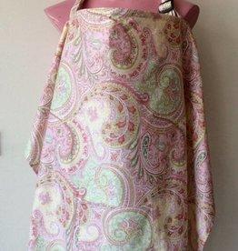 Pink Paisley nursing cover