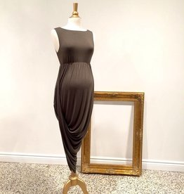 Hi-Lo dress In Khaki