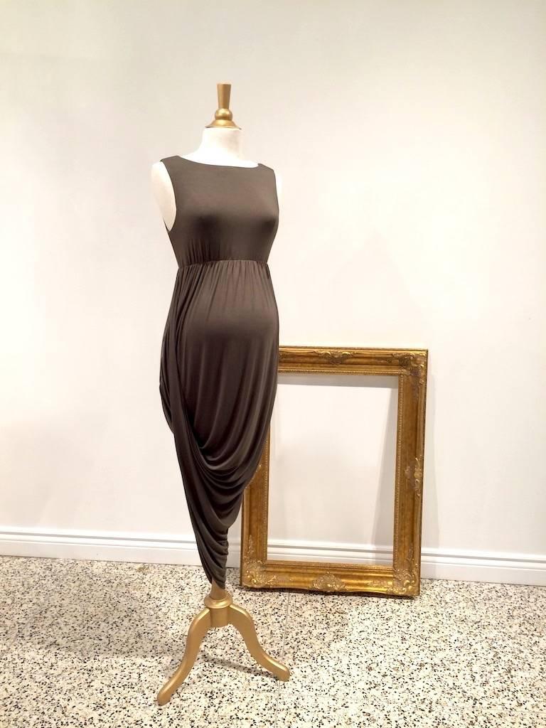 June & Dane Hi-Lo nursing & maternity dress in Khaki