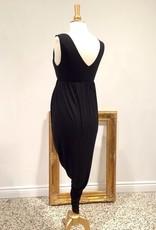 June & Dane Hi-Lo nursing & maternity dress in Black