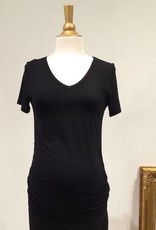 June & Dane Ruched maternity t-shirt in Black