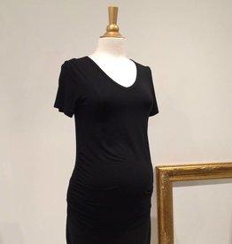 Black ruched maternity t-shirt