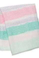 Lulujo Muslin blanket - Pink Spotted Stripe
