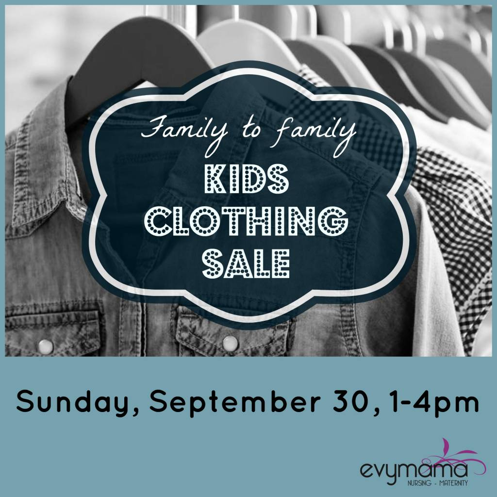 Family to family kids clothing sale at Evymama!