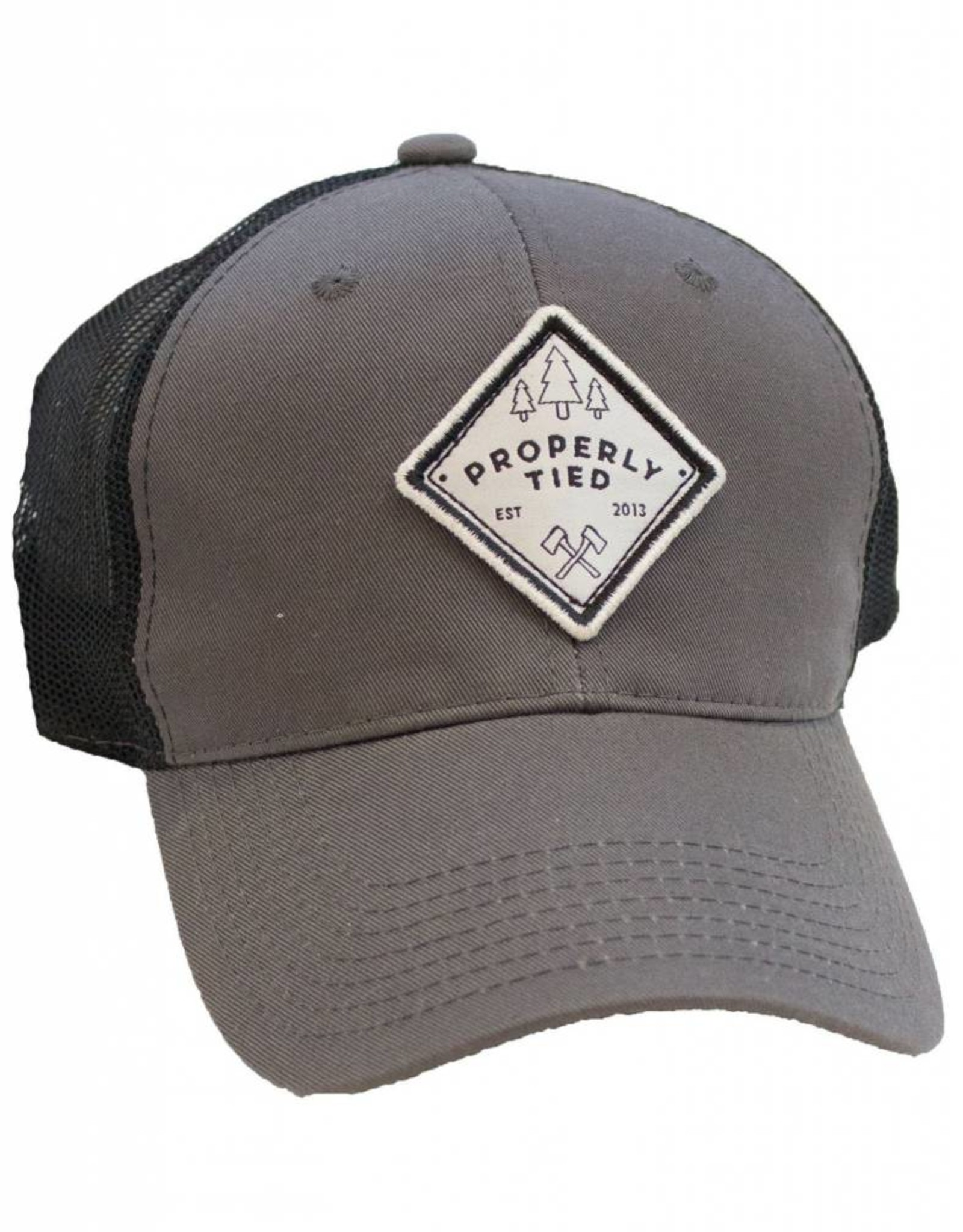 Properly Tied PT Trucker Hat - Patch Grey