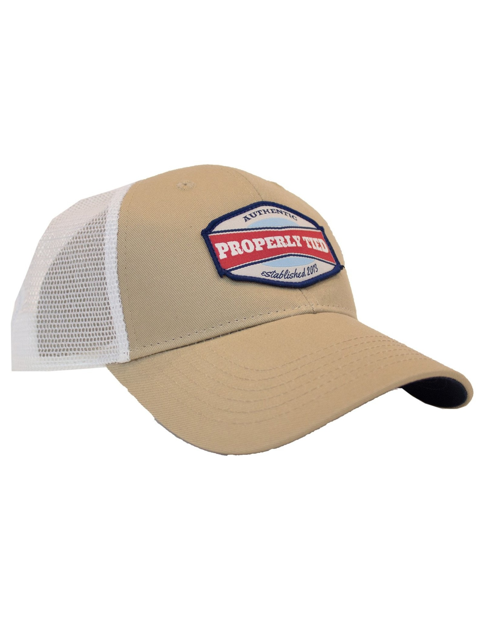 Properly Tied PT Trucker Hat- Vintage Badge