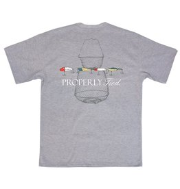 Properly Tied PT Vintage Lures SS Light Heather Gray