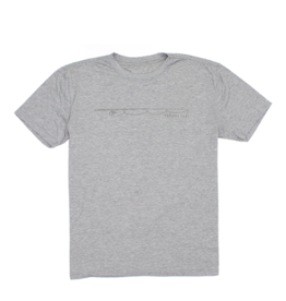Properly Tied PT Portland Tee Fly Rod Heather Grey SS