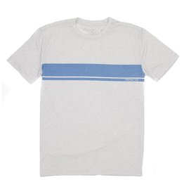 Properly Tied PT Portland Tee SS Stripe Ice Grey Heather