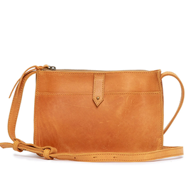 ABLE Chaltu Top Zip Crossbody: Cognac
