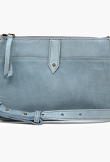 ABLE Chaltu Top Zip Crossbody: Ice Blue