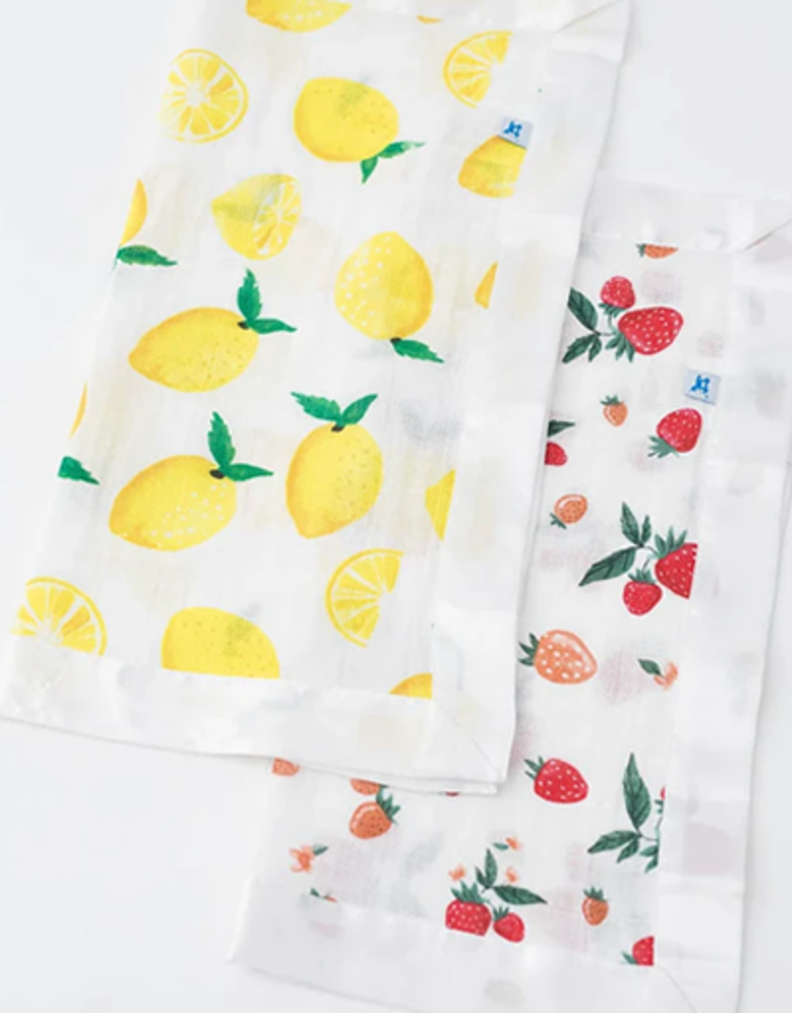 Little Unicorn Lemon + Strawberry Security Blanket 2 pk