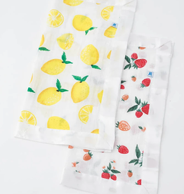 Little Unicorn Lemon + Strawberry Security Blanket 2 pk