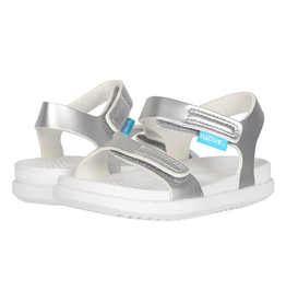 Native YOUTH Charley Silver Metallic Sandal