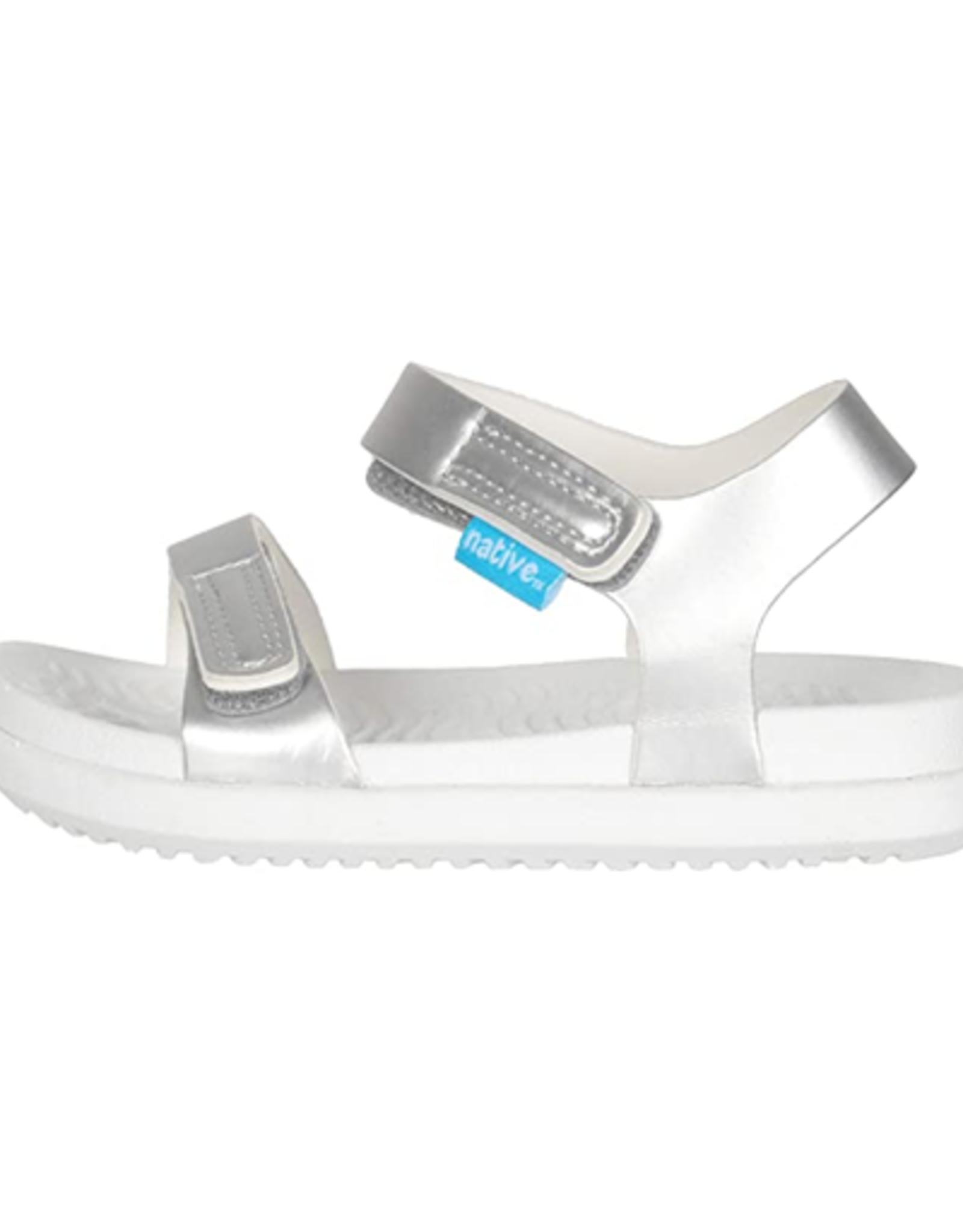 Native YOUTH Charley Silver Metallic Sandal