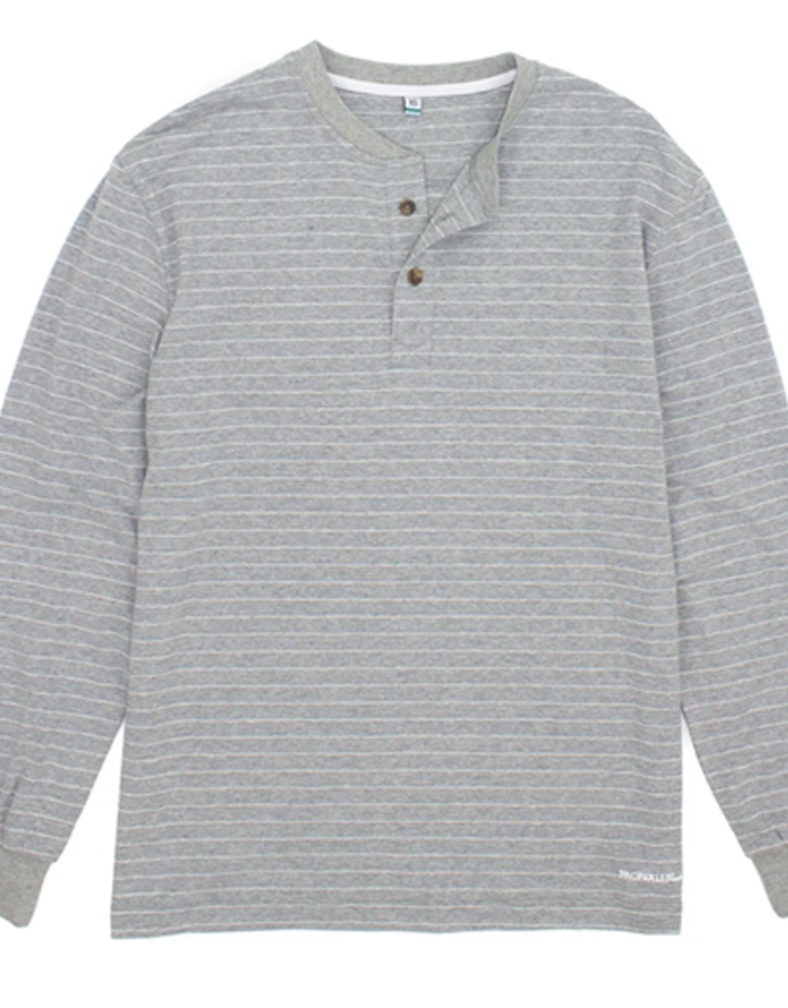 Properly Tied Kennon Henley Light Heather Grey
