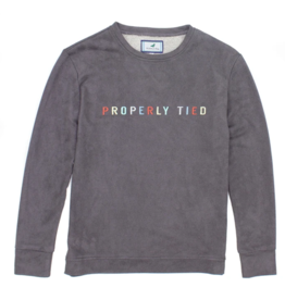 Properly Tied Asher Crew Neck Graphite