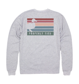 Properly Tied Venice Logo LS Light Heather Grey