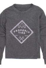 Properly Tied LD Portland LS Patch Dark Heather Grey