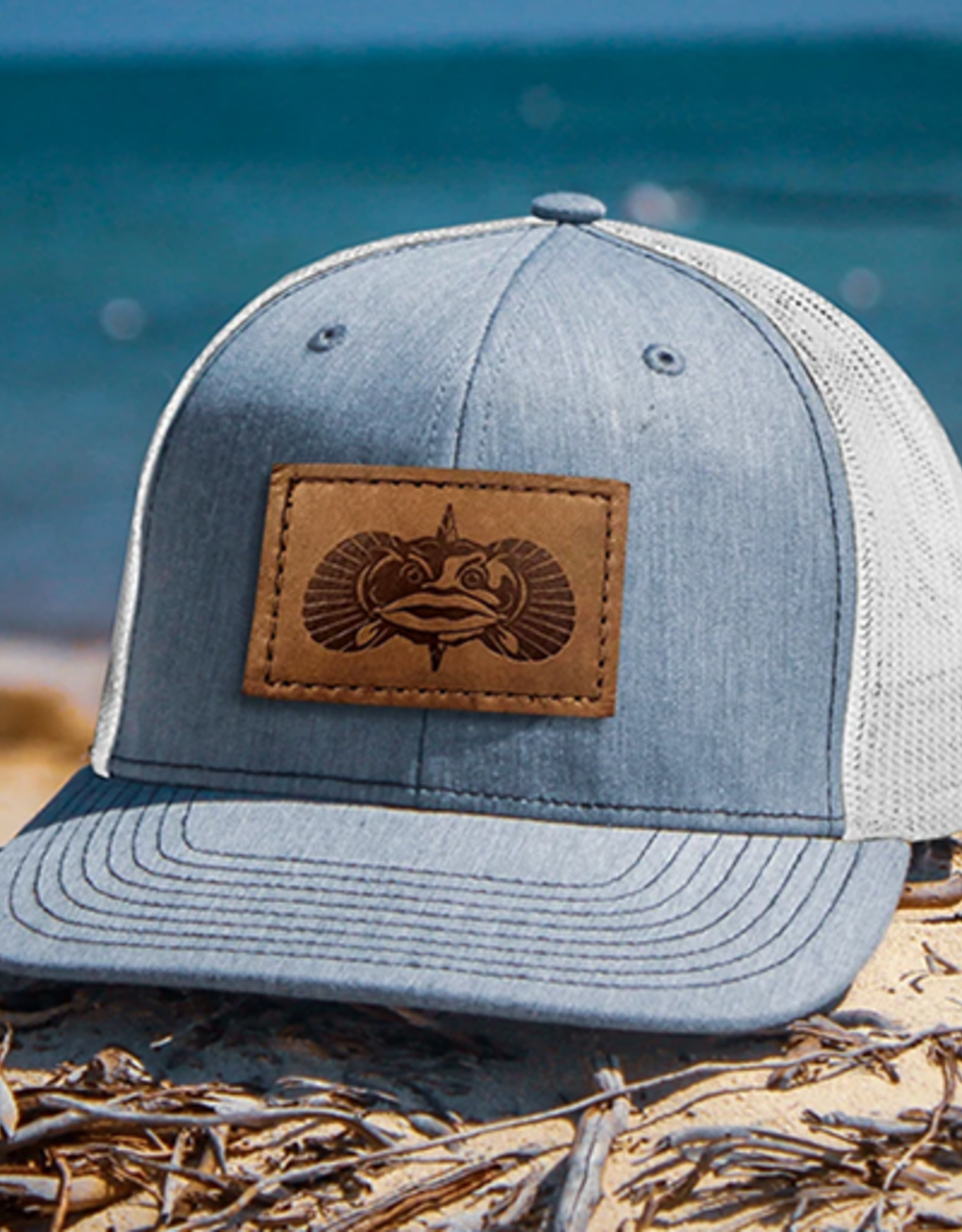 Toadfish Toadfish Leather Patch Hat