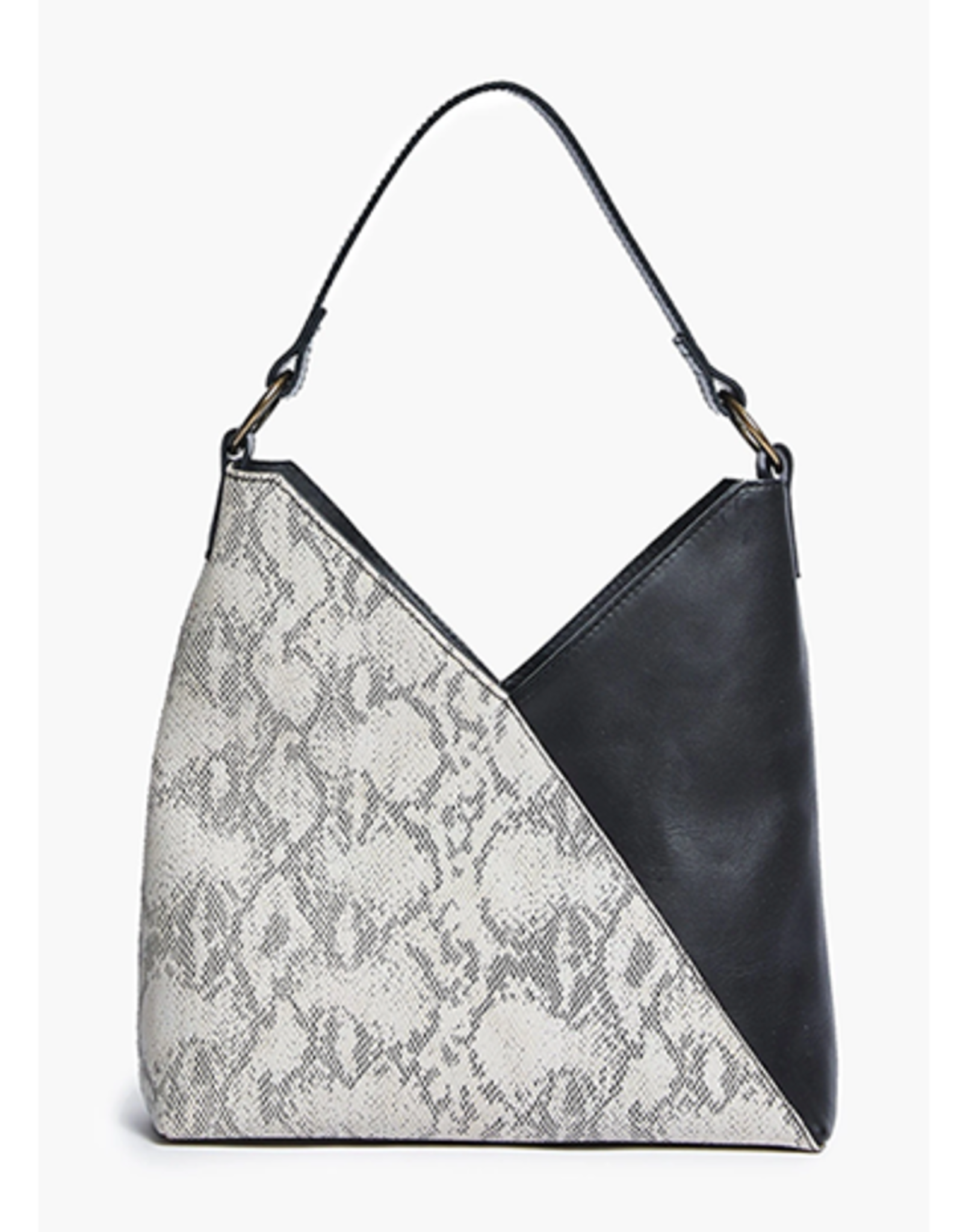 ABLE Solome Shoulder Bag: Black/Snake