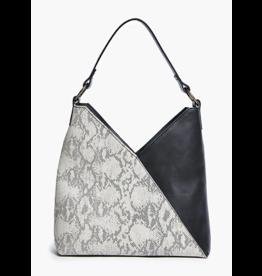 ABLE Solome Shoulder Bag: Black/Snake