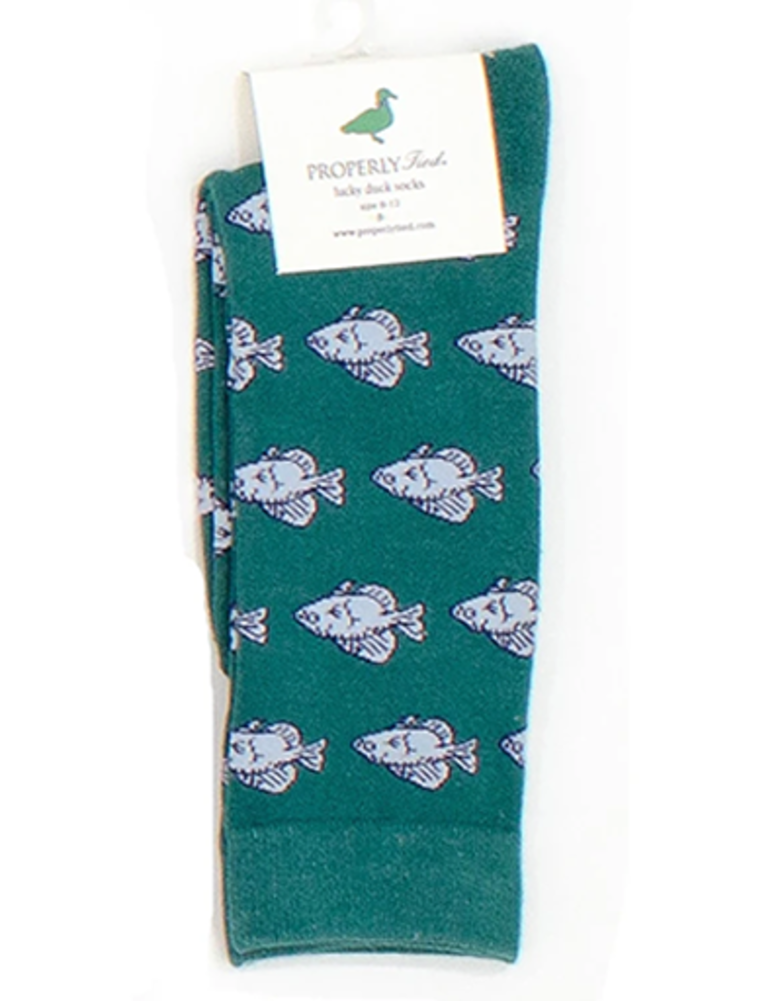 Properly Tied Lucky Duck Sock - Crappie