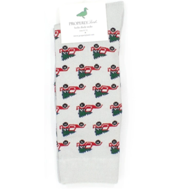 Properly Tied Lucky Duck Sock - Christmas Truck