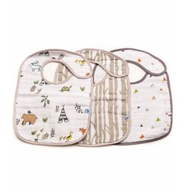 Little Unicorn Cotton Muslin Classic Bib 3 Pack - Forest Friends