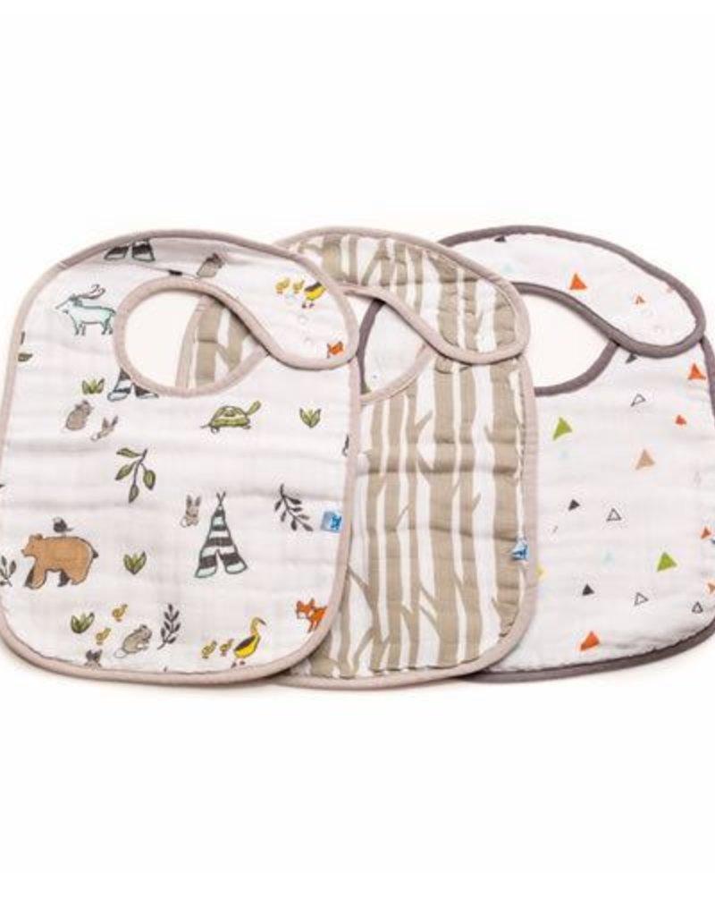 Little Unicorn Cotton Muslin Classic Bib 3 Pack - Forest Friends