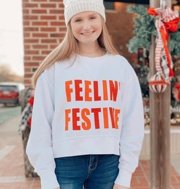 chicka-d Feeling Festive Cropped Sweatshirt
