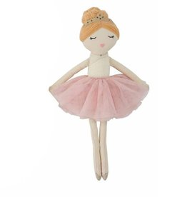 mud pie Red Hair Ballerina Doll
